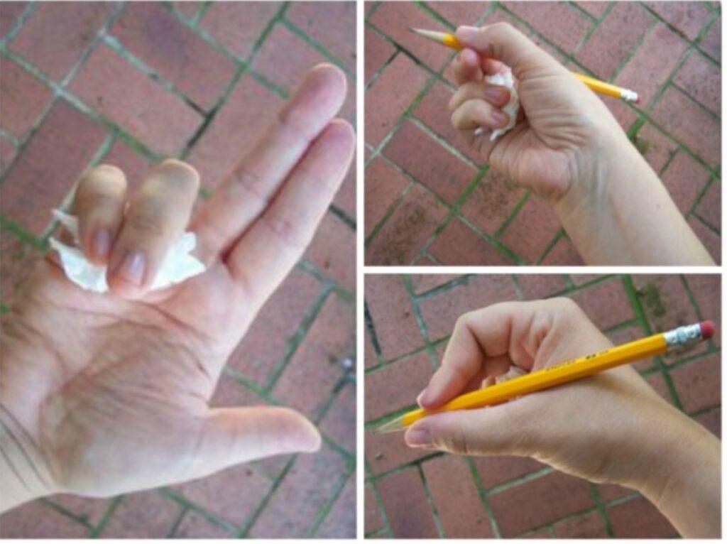 impugnatura corretta penna stilografica